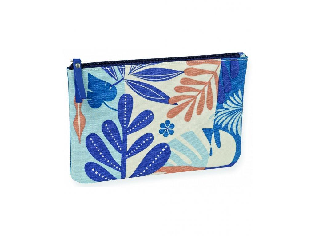 Látková peněženka Blue flowers