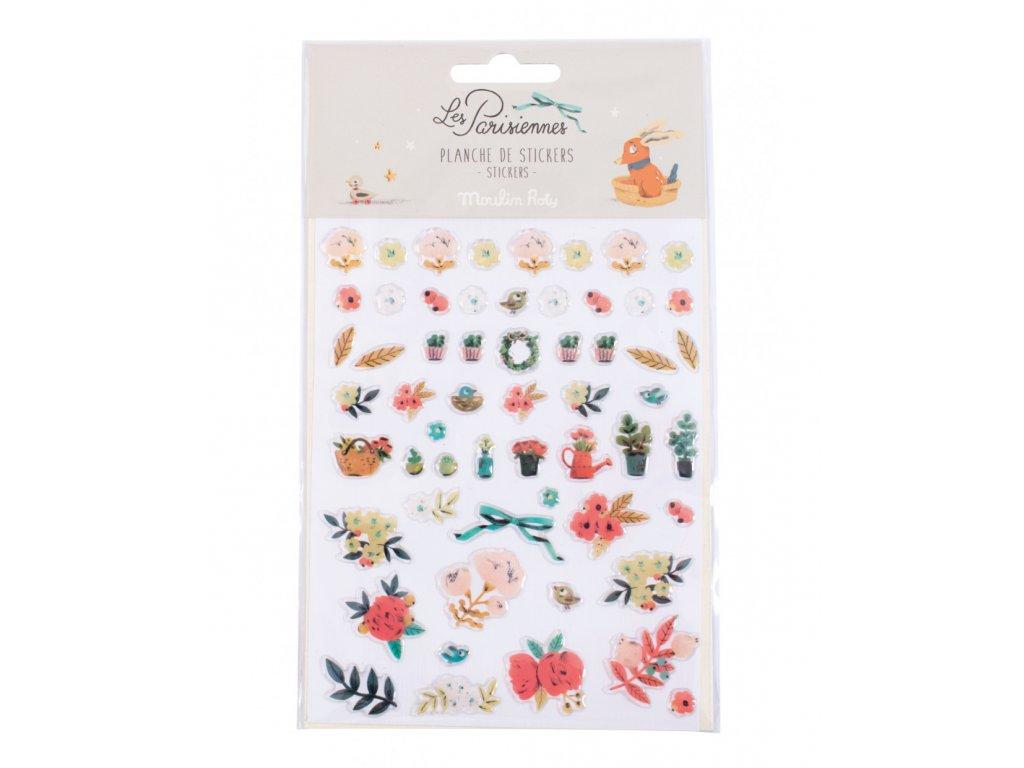 57 květinových samolepek
