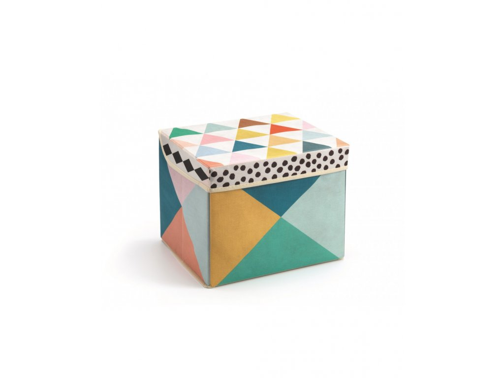 Pestrobarevná krabička na hračky