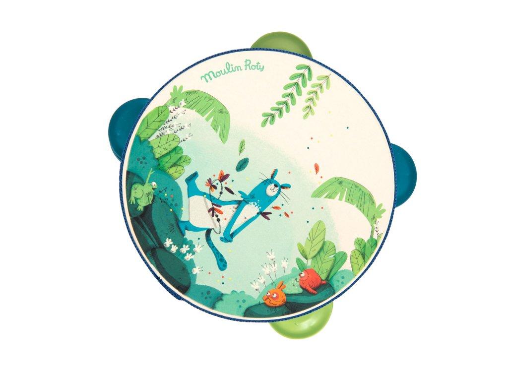Tamburína zelená z kolekce Jungle
