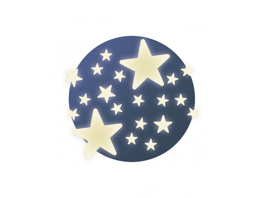 DJECO Fosforeskující samolepky na zeď - Hvězdičky