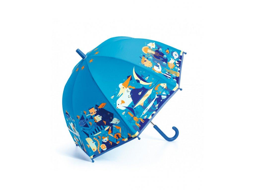 DJECO Krásný designový deštník - Mořský svět