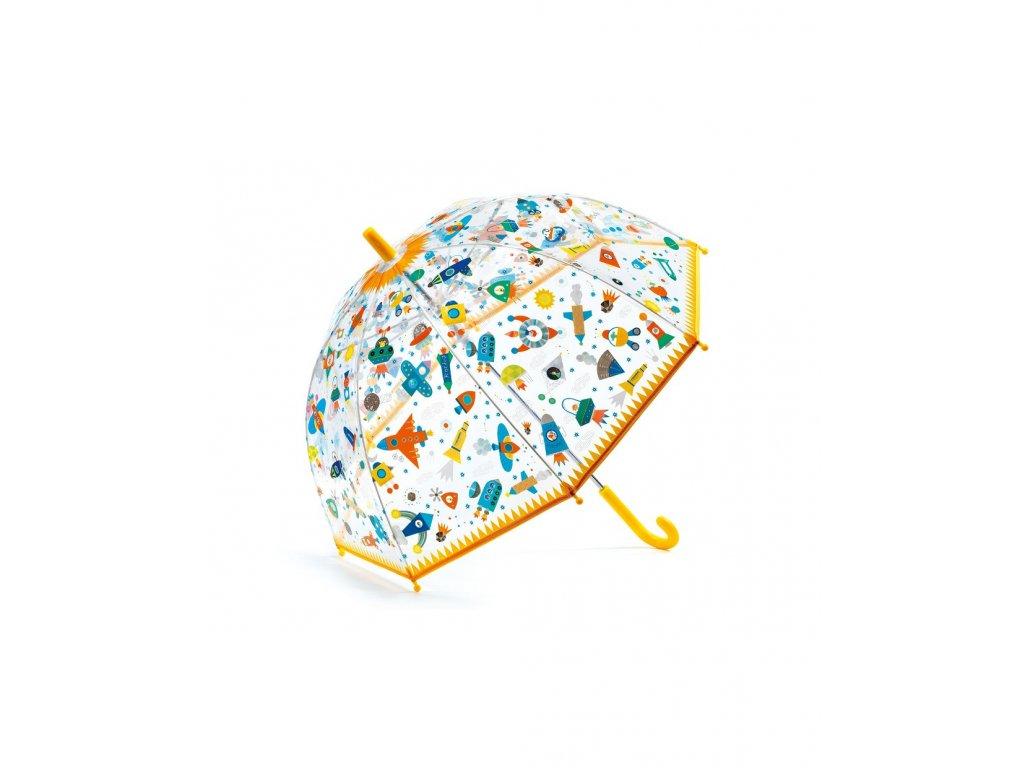 Krásný designový děštník Vesmír