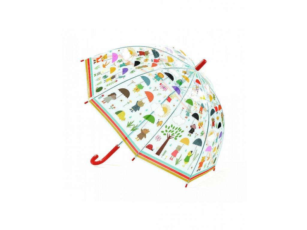 Krásný designový deštník V dešti
