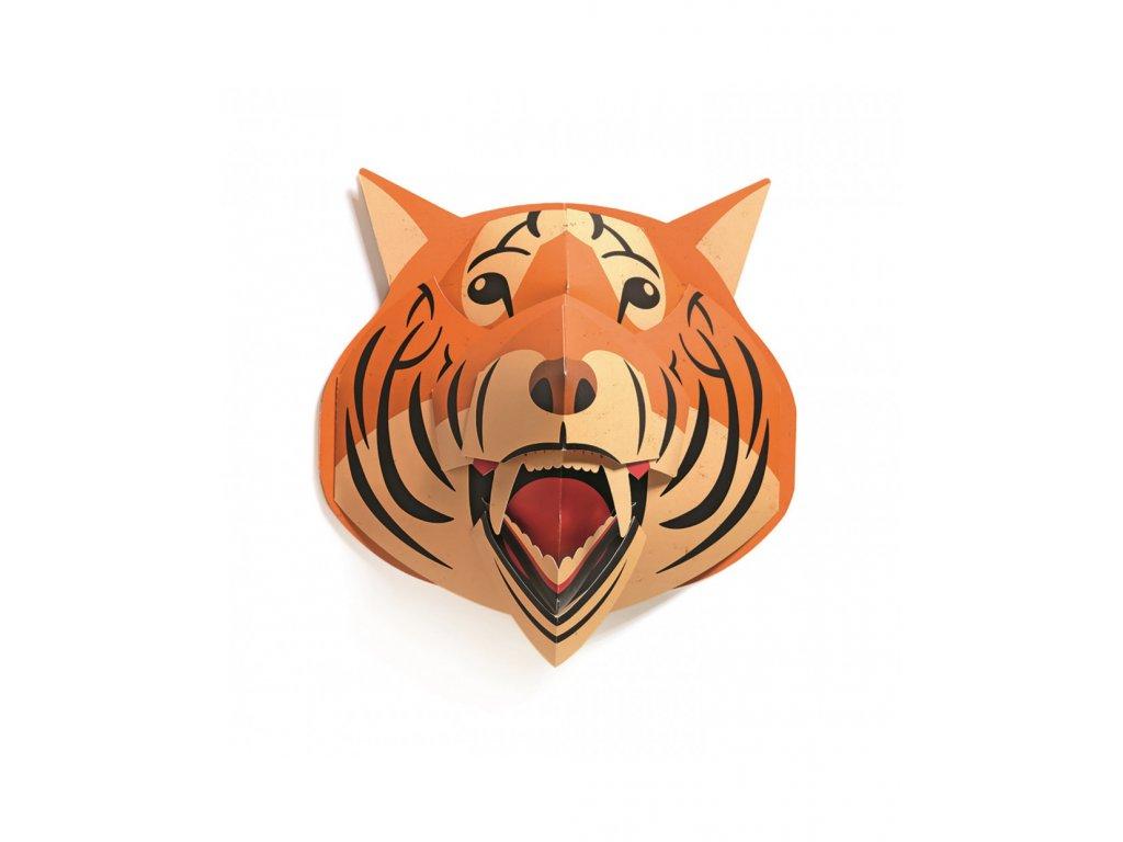 Pop-up dekorace na zeď - Tygr