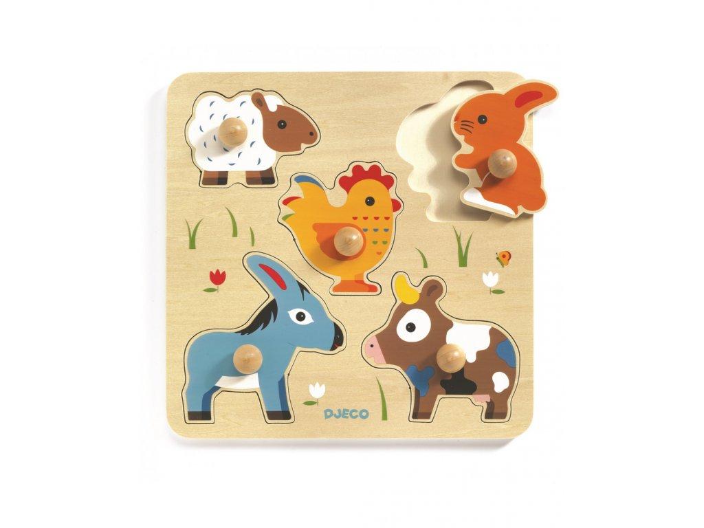 Puzzle pro nejmenší Oslík a přátelé