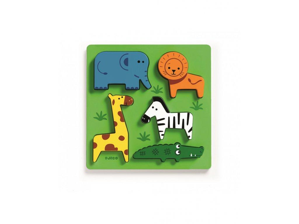 DJECO Puzzle pro nejmenší zvířátka z jungle