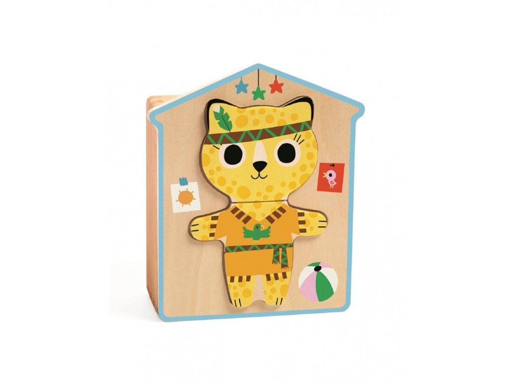DJECO Puzzle - skládání Veselé kočičky