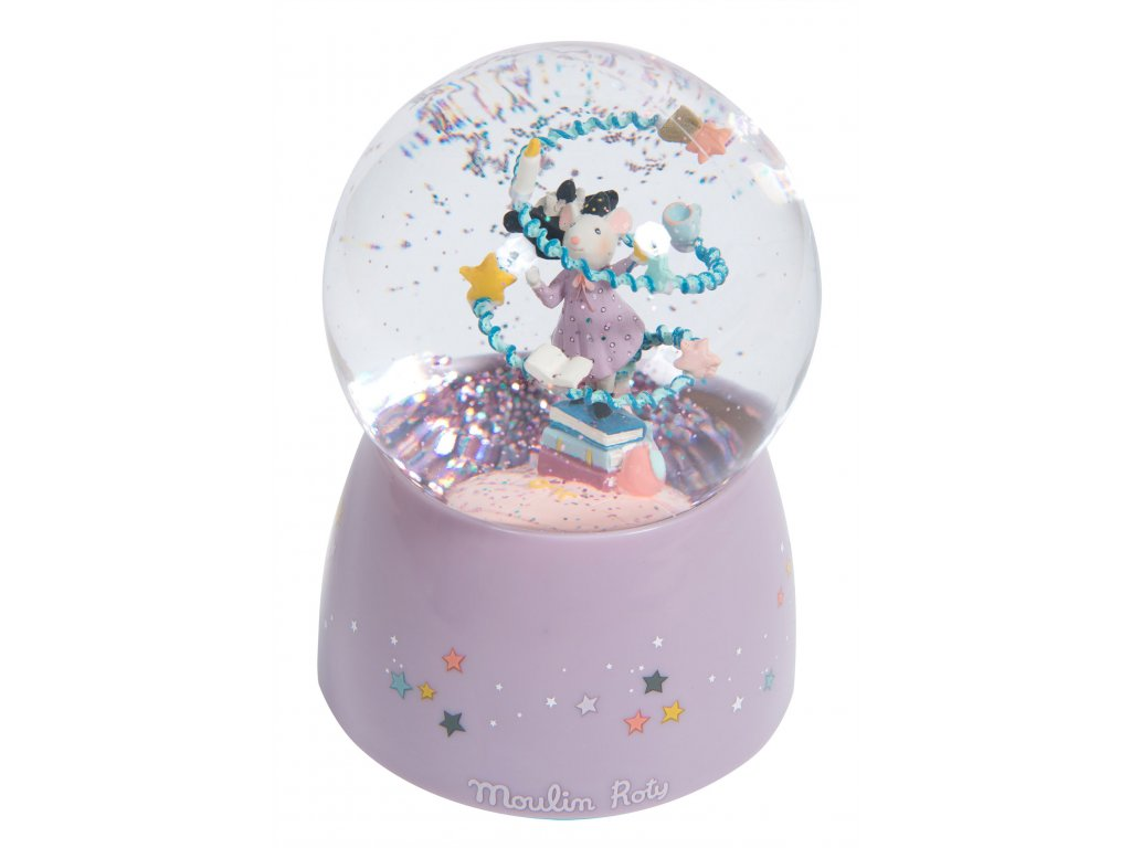 Hudební sněžítko Myška kouzelnice