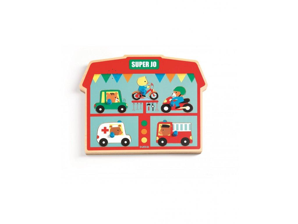 Vkládací puzzle auta se zvuky