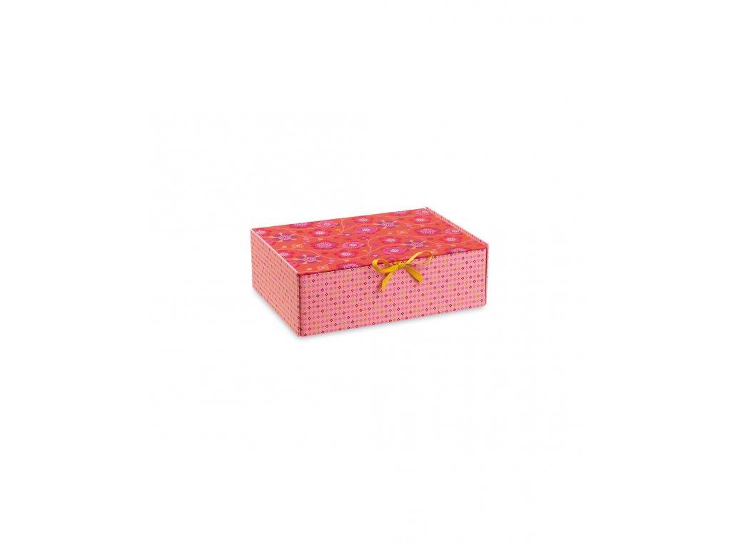 Krabička růžovo červená