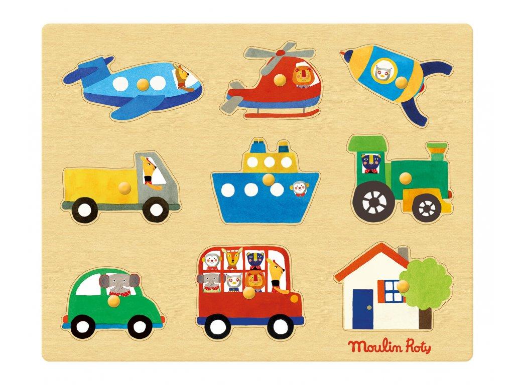 Vkládací puzzle Dopravní prostředky