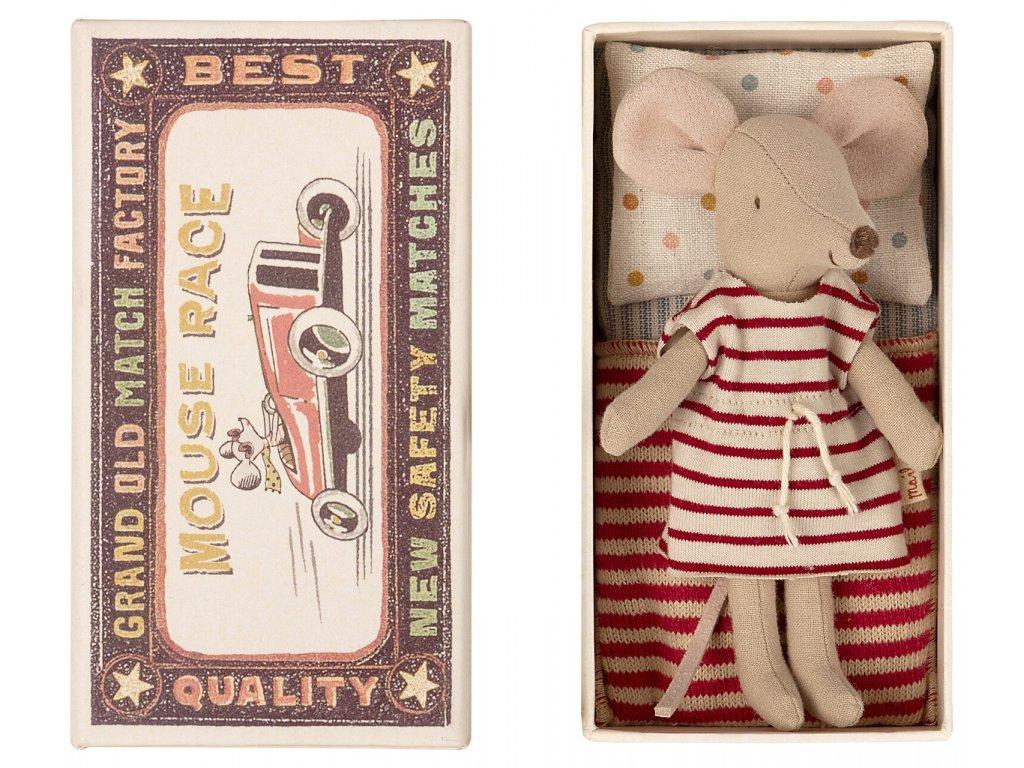 MAILEG Myší slečna v krabičce v šatech - velká sestra