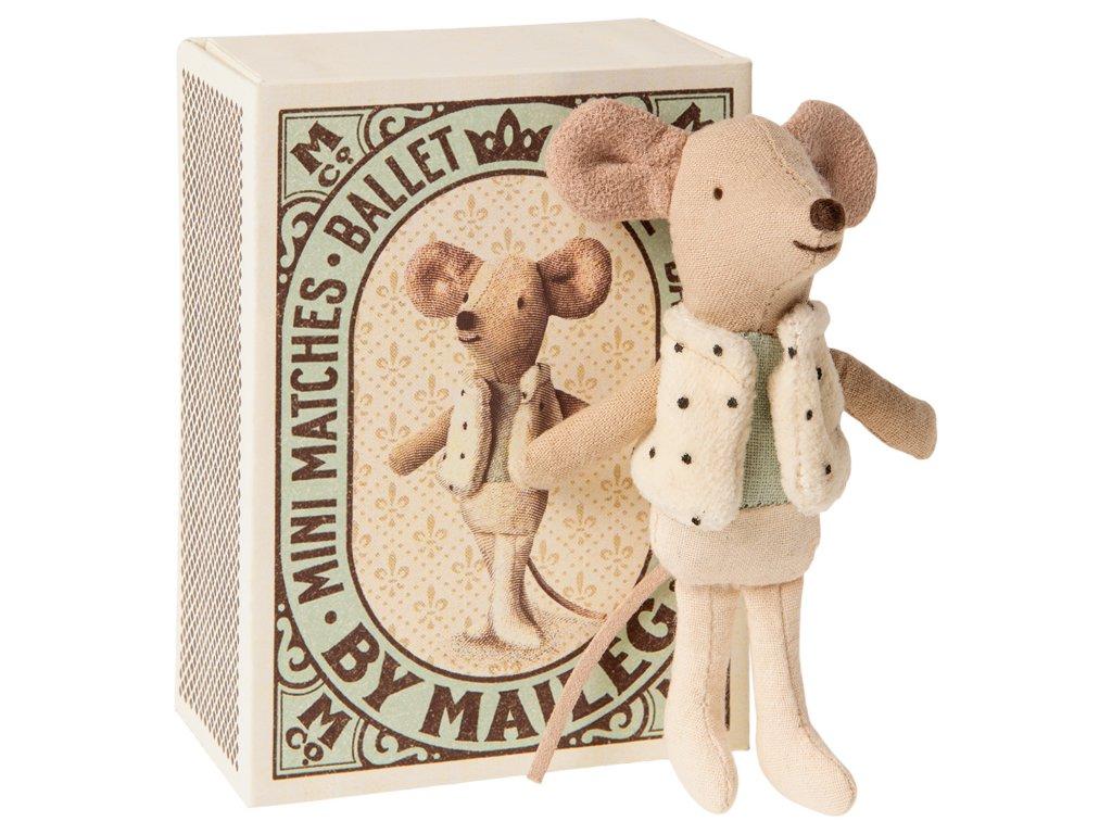 Maileg Tanečník v krabičce - malý bráška