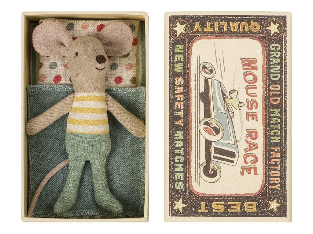 Maileg Myší kluk v krabičce - malý bráška