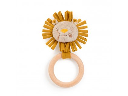 MOULIN ROTY Chrastící lvíček s dřevěným kroužkem