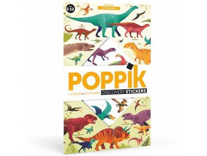 poppik dinosaures sticker poster wall decor kids trex 0 copie