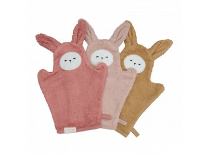 Bath Mitts Bunny Old Rose Mix 3 pack (primary)