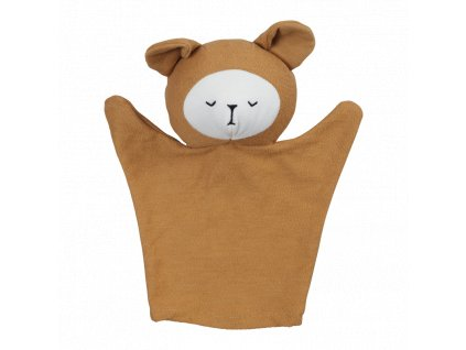 Hand Puppet Bear Ochre (primary)