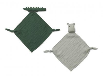 LW12941 Yoko mini cuddle cloth 2 pack 1116 Safari green mix Extra 0