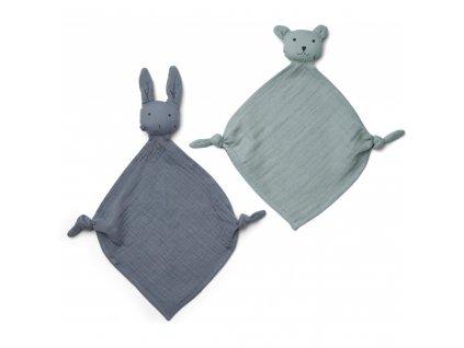 LW12941 Yoko mini cuddle cloth 2 pack 9298 Blue mix Extra 0