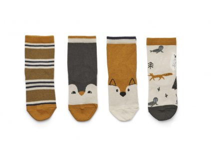 LW12993 Silas cotton socks 4 pack 0291 Arctic mix Extra 0
