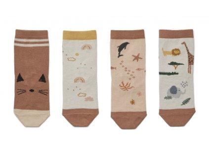 LW12993 Silas cotton socks 4 pack 2273 Safari rose mix Main