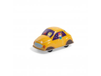 Yellow friction car Les jouets métal