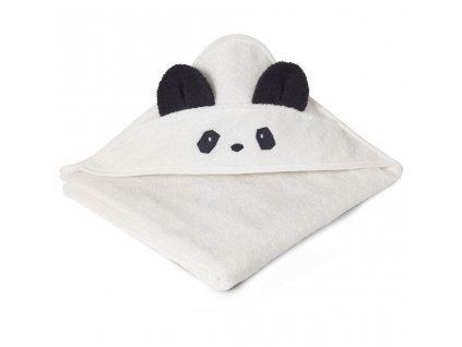 LW12442 Augusta hooded towel 0010 Panda creme de la creme Extra 0