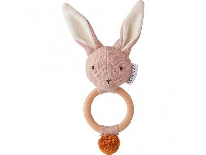 LW12556 Aria rattle 0037 Rabbit rose Extra 0
