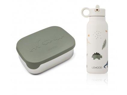 LW14354 Joni lunch box set 7312 Dino faune green mix Extra 0