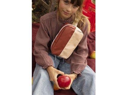 1801899 Sticky Lemon style fanny pack large colourblocking fig brown apple tree va