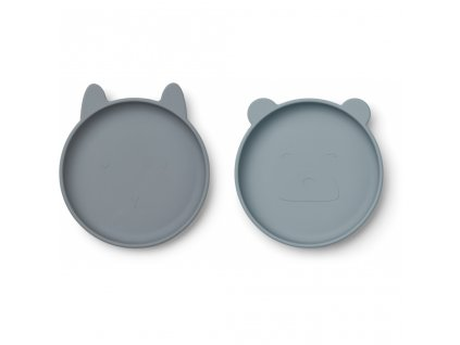 LW12930 Olivia plate 2 pack 9298 Blue mix Extra 0