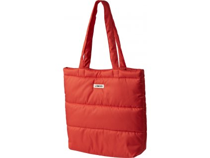 LW14338 Constance quilted tote bag 2400 Apple red Extra 0