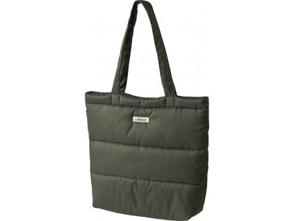 LW14338 Constance quilted tote bag 7348 Hunter green Extra 0