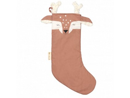 Christmas Stocking Deer Old Rose (primary)