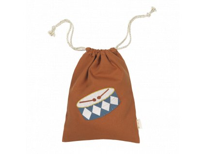 Gift Bag Drum embroidery cinnamon (primary)