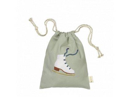 Gift Bag Ice Skate embroidery Eucalyptus (primary)