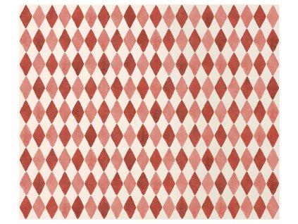 MAILEG Dárkový papír - Harlequin red - 10 m