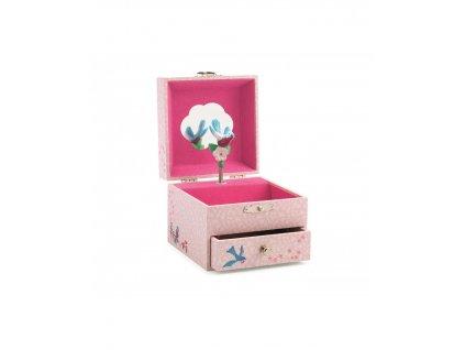 DJECO Hrací skříňka růžová Sýkorka
