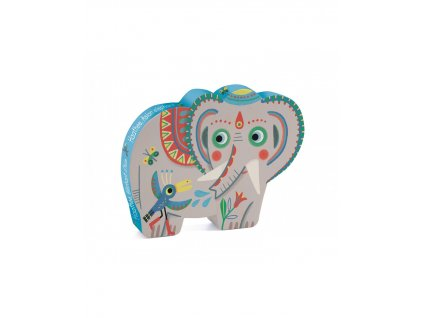 DJECO Puzzle Indický slon - 24 dílků