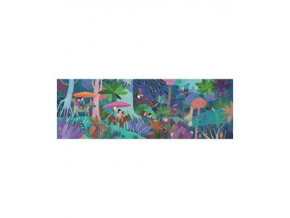 DJECO Puzzlový obraz Dětská procházka - 200 dílků