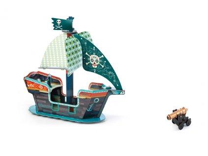 3D Pirátská  loď