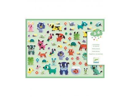 DJECO Set plastických samolepek zvířecí kamarádi