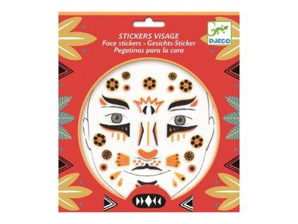 DJECO Samolepky na obličej Leopard