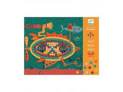 DJECO Pestrobarevná mozaika Stroje v pohybu