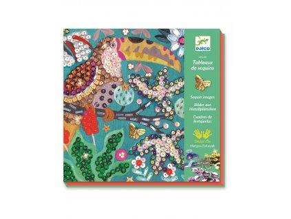 DJECO Kreativní sada flitrové obrázky Tropical