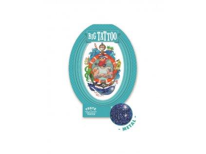 DJECO Velké tetování se třpytkami Námořník