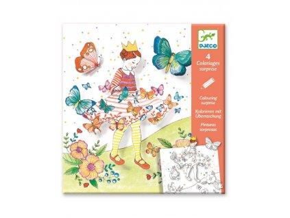 DJECO Pop-up obrázky s překvapením motýlí princezna