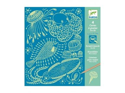 DJECO Vyškrabávací obrázky - Mořské mámení